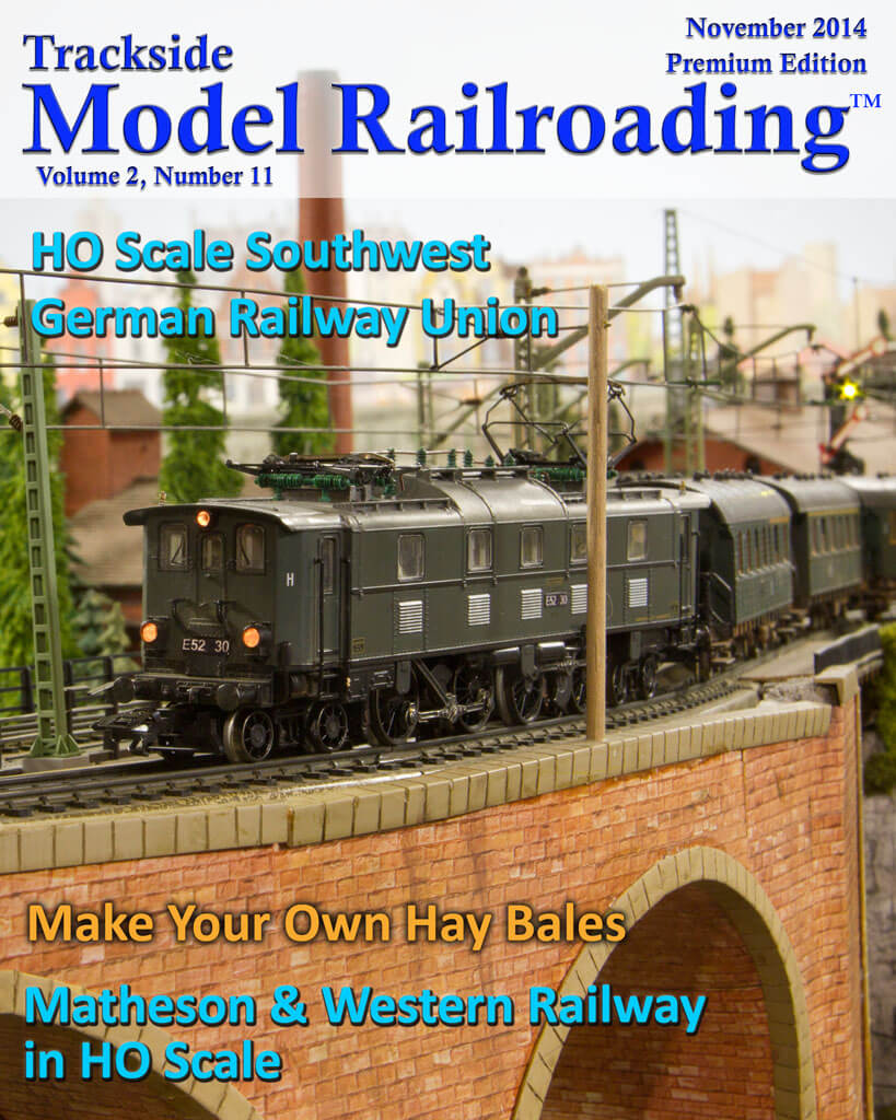 Trackside Model Railroading Digital Magazine November 2014 Cover