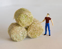 Create Hay Bales for Your Model Railroad