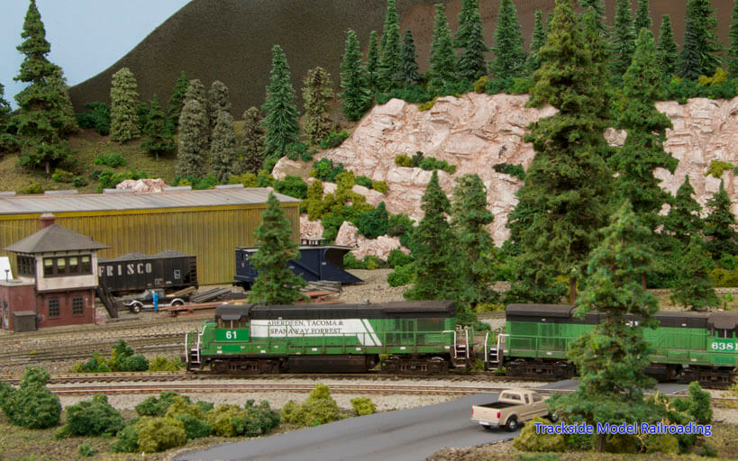 Trackside Model Railroading Walt Huston N Scale Aberdeen, Tacoma and Spanaway Forrest Railroad ATSF