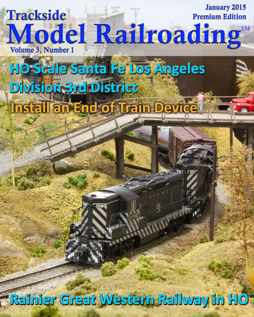 Trackside Model Railroading Digital Magazine January 2015 Cover
