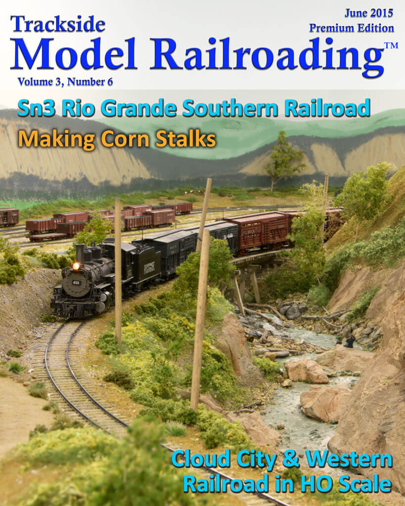 Trackside Model Railroading Digital Magazine June 2015 Cover