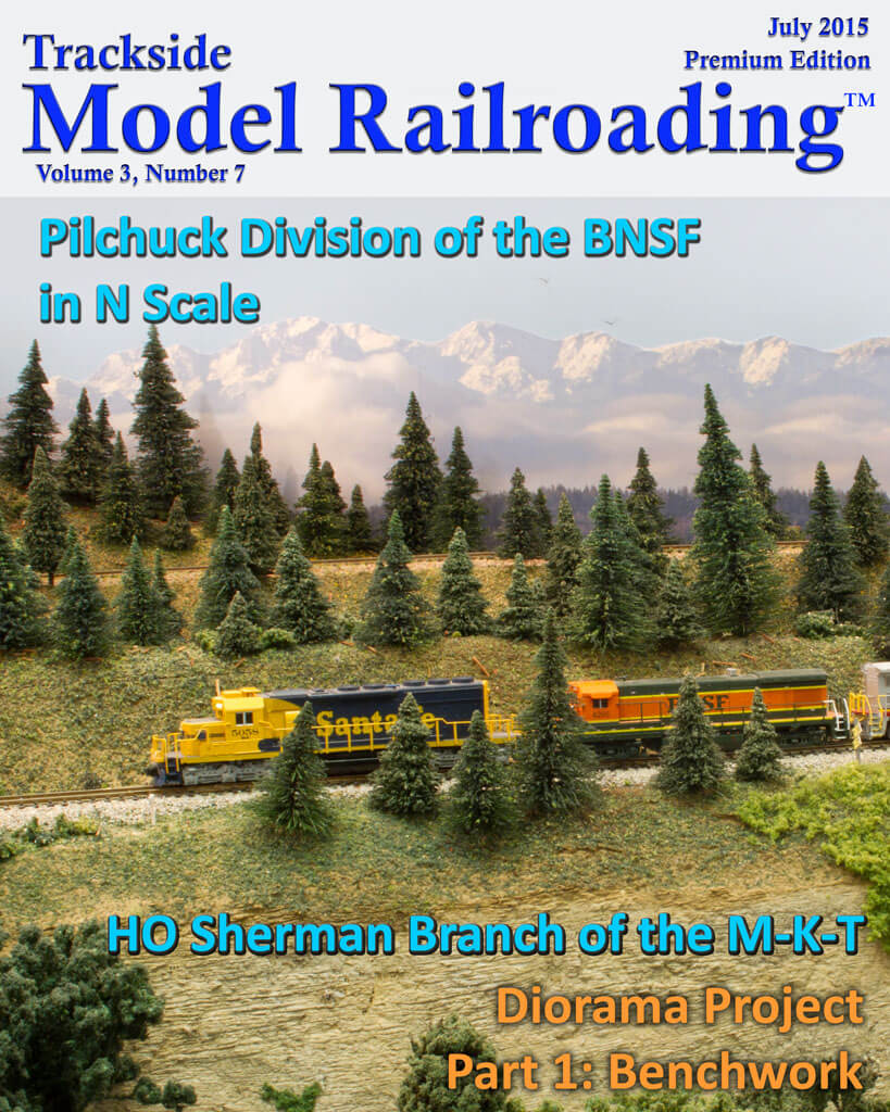 Trackside Model Railroading Digital Magazine July 2015 Cover