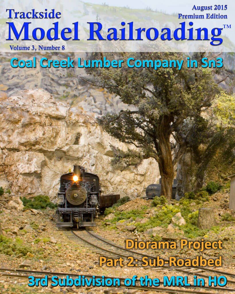 Trackside Model Railroading Digital Magazine August 2015 Cover