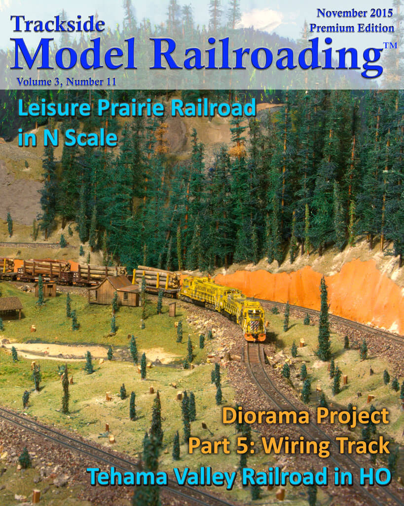 Trackside Model Railroading Digital Magazine November 2015 Cover
