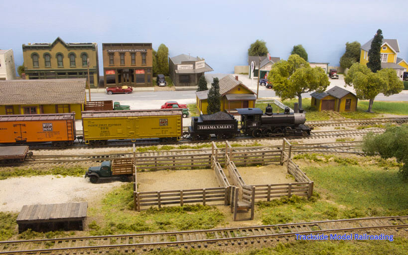 Trackside Model Railroading Scott and Diane Buckley's HO Scale Tehama Valley Railroad