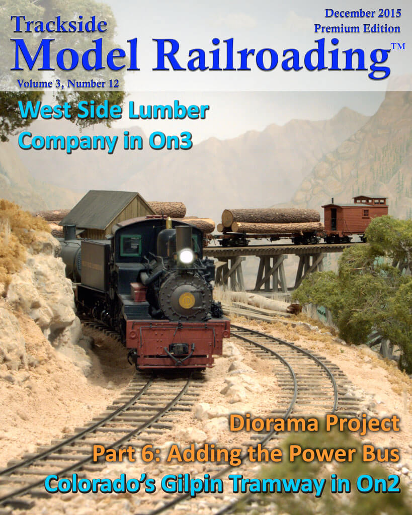 Trackside Model Railroading Digital Magazine December 2015 Cover