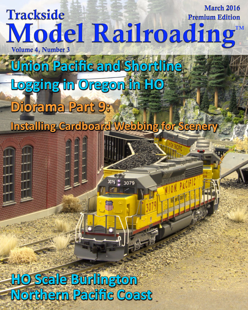 Trackside Model Railroading Digital Magazine March 2016 Cover
