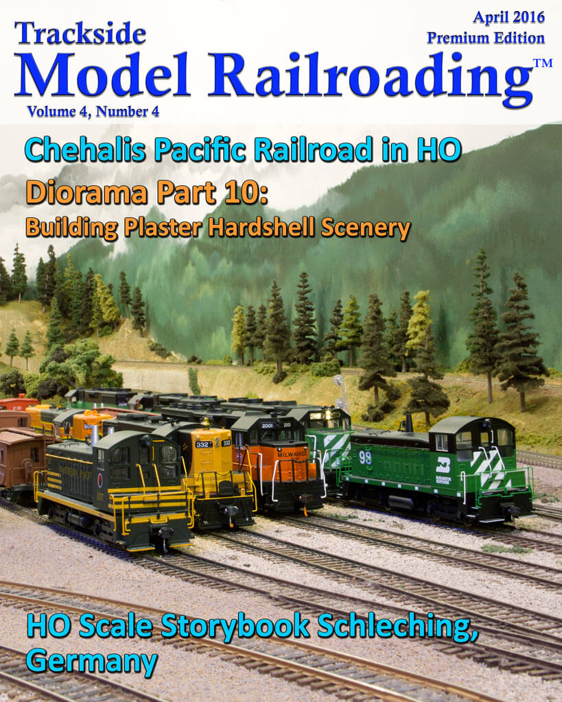 Trackside Model Railroading Digital Magazine April 2016 Cover