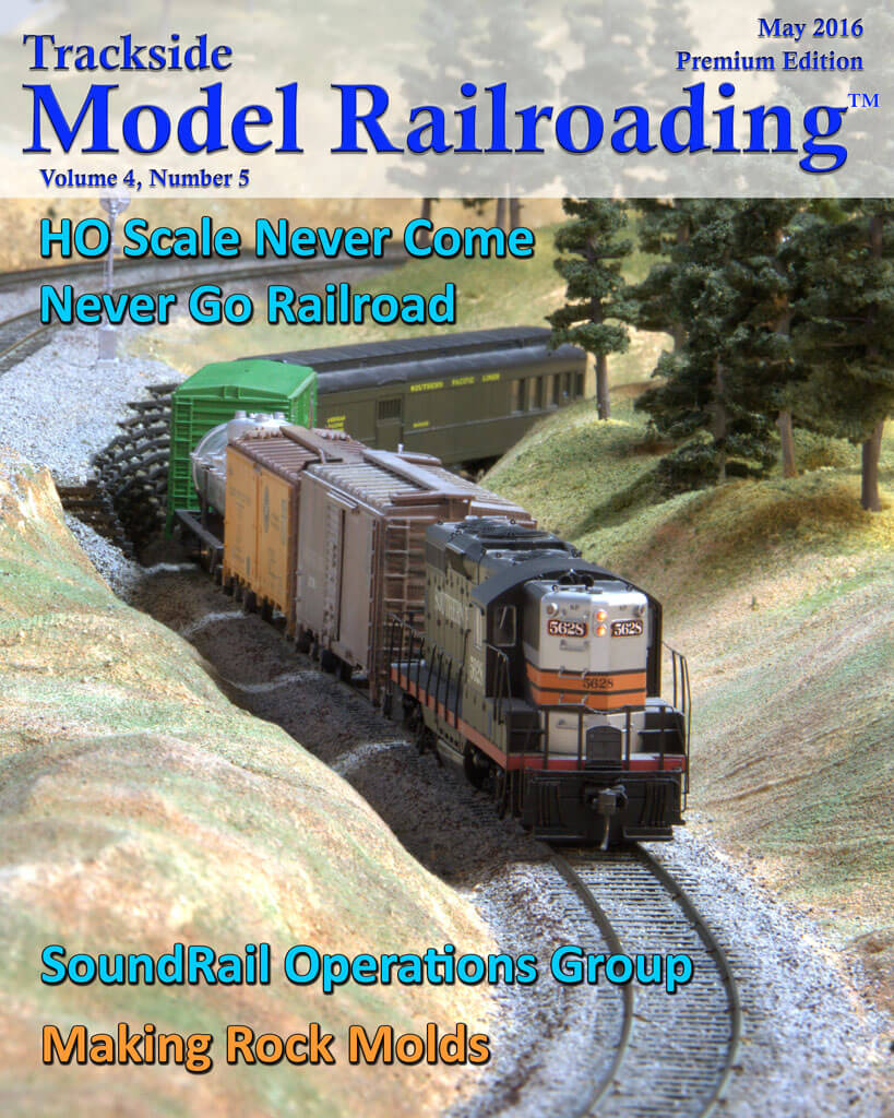 Trackside Model Railroading Digital Magazine May 2016 Cover