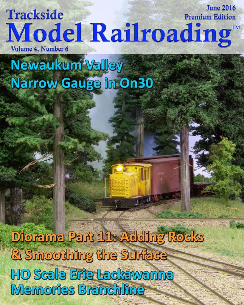 Trackside Model Railroading Digital Magazine June 2016 Cover