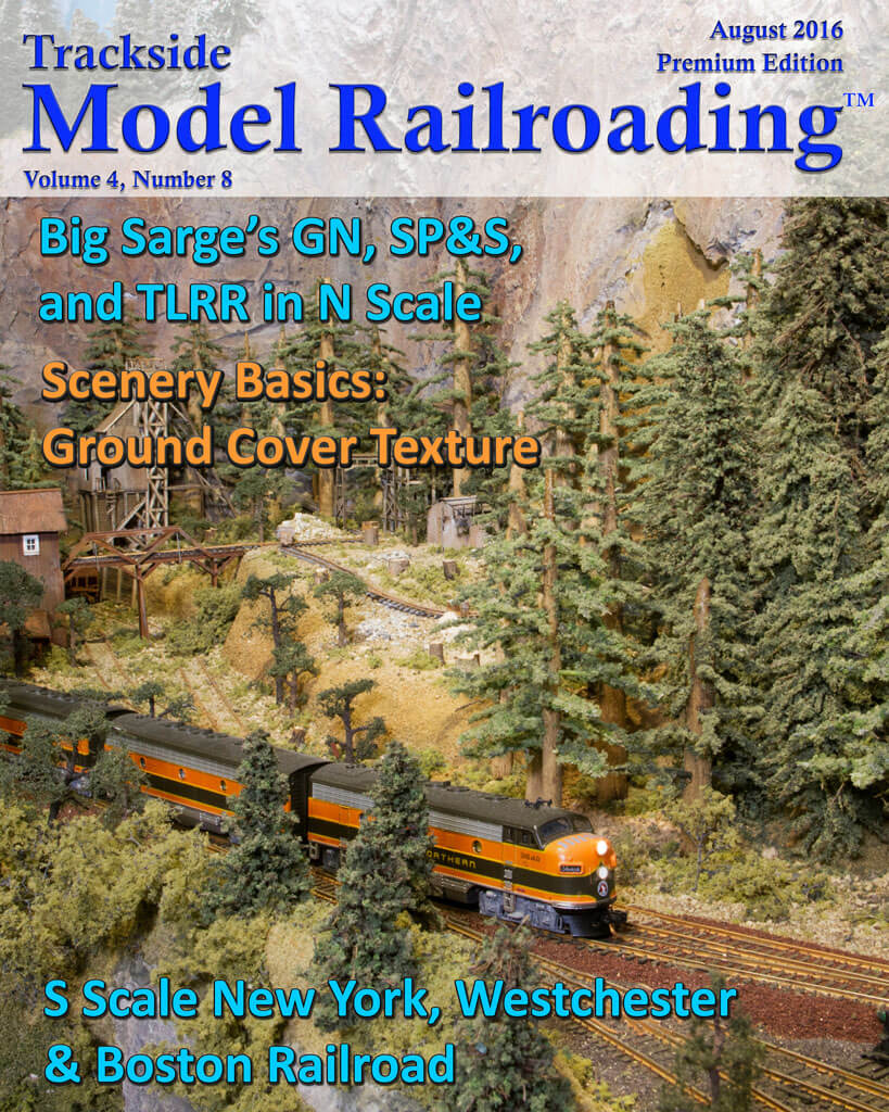 Trackside Model Railroading Digital Magazine August 2016 Cover