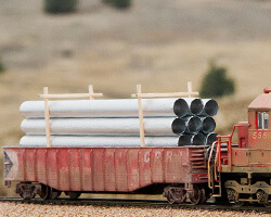 Construct and Build a Galvanized Pipe Load for Your Gondola and Flat Rail Cars
