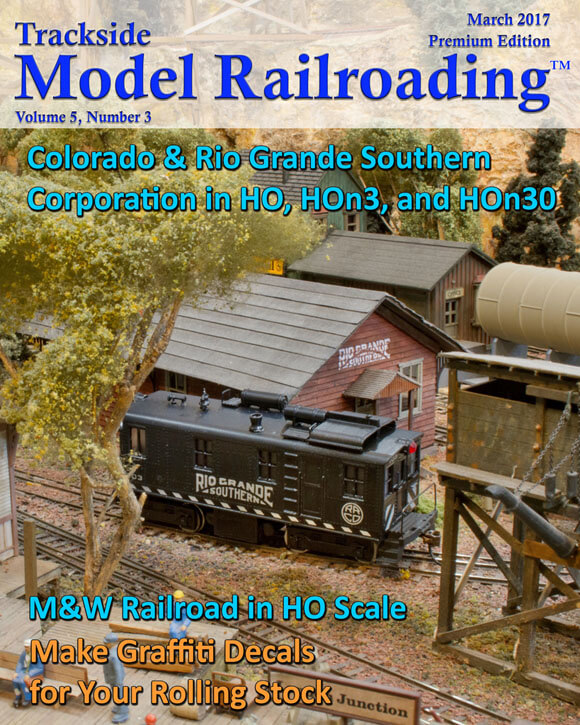 Trackdside Model Railroading March 2017 Cover