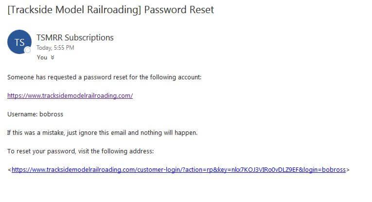 Password Reset Part 1