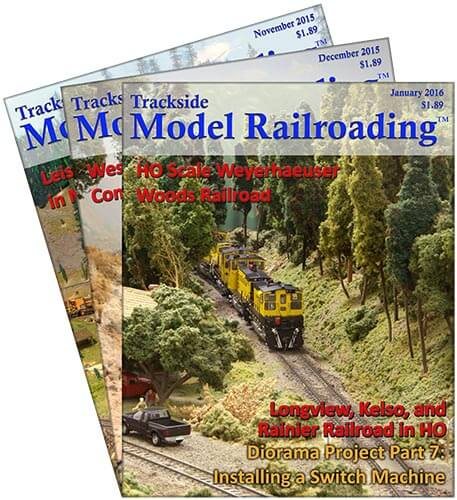 Trackside Model Railroading Magazine Covers