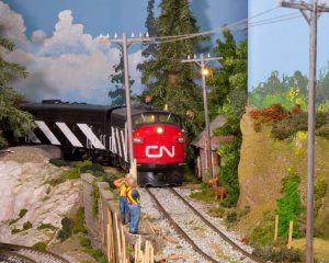 Canadian National locomotive in Trackside Model Railroading G scale